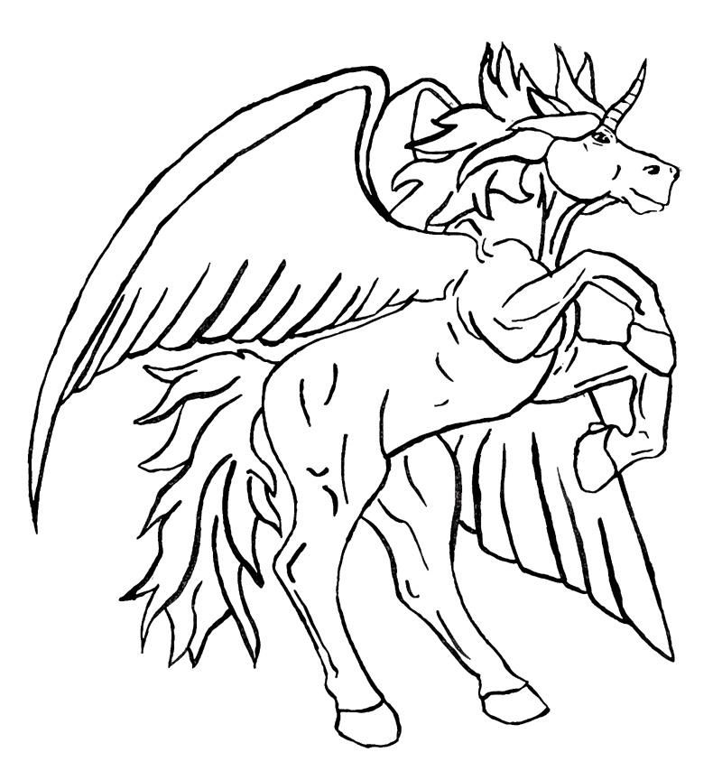 Unicorn Pegasus Coloring Pages Tattoo Page 2 - AZ Coloring Pages ...