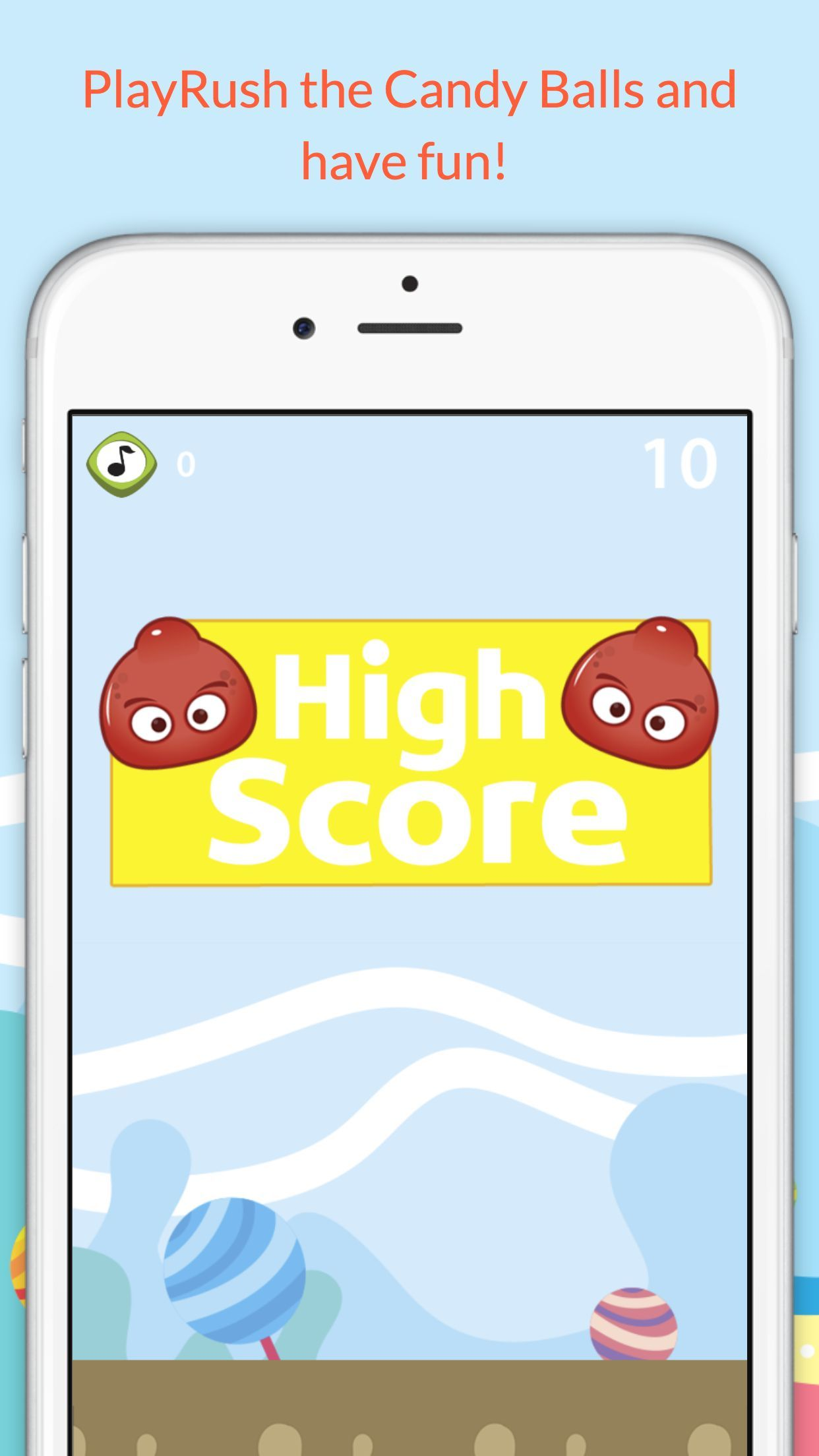 Fun Addicting Game Apps - Rush the candy balls is very simple addictive game that let you have fun for hours