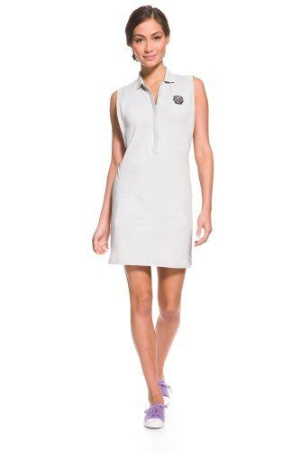 462f66d13a9d58  Sleeveless Technical  Pique  Polo  Dress With Zipper Placket.  polodress   lacoste