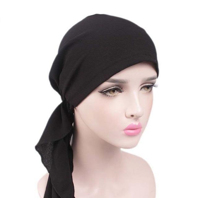 94324e6b8bb Women Hat 2017 New Ladies Flower head Scarf Chemo Hats Turban Beanies  Headwear Bandana Headscarf Cancer Loss hair Beanies Caps