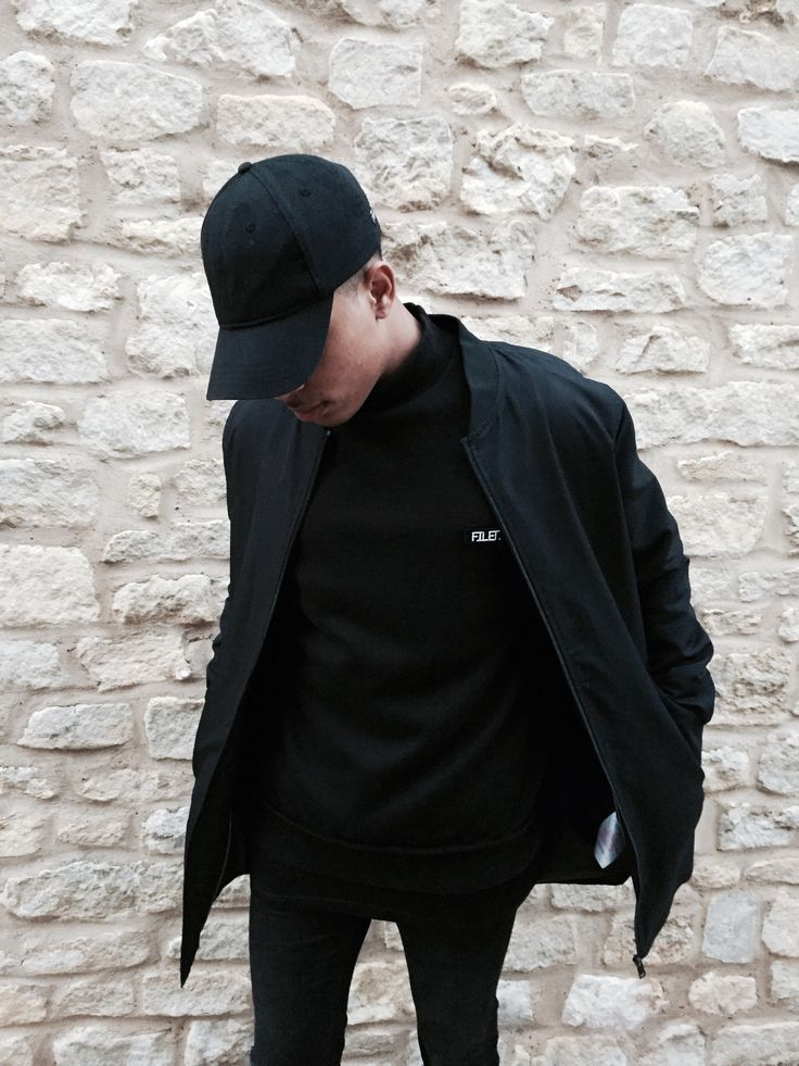 55959306d FILET. turtle neck x FILET. black baseball cap | Male Fashion in ...