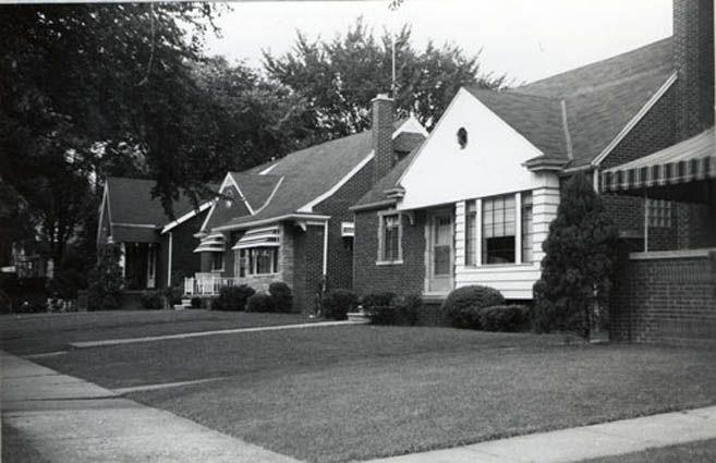 Scene Setter | House styles, Scene setters, The neighbourhood  1950s Suburban Homes