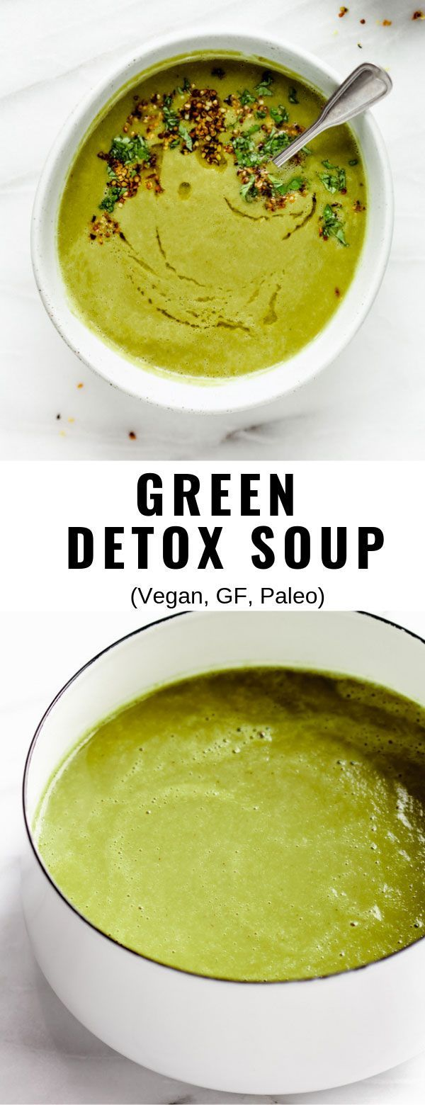 Actually delicious green detox soup