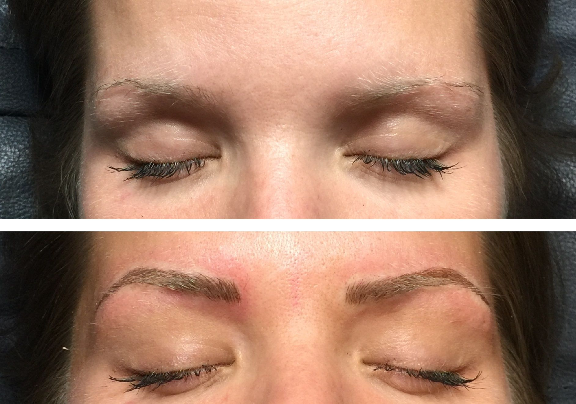 Microblading Before And After Permanent Makeup Eyebrow Color