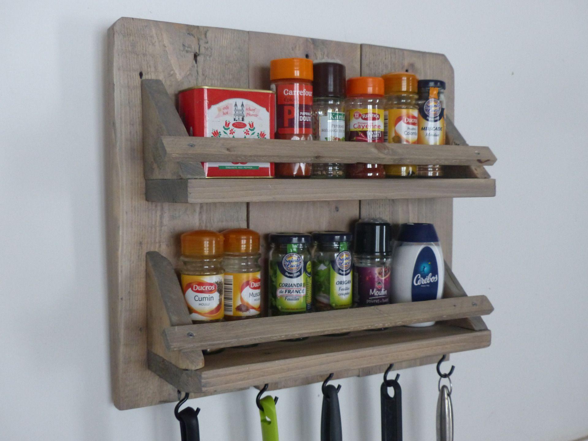 porte pices et ustensiles de cuisine en bois diy. Black Bedroom Furniture Sets. Home Design Ideas