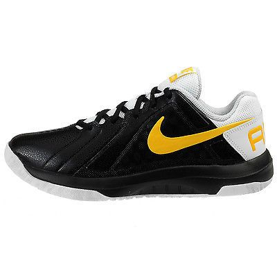 new concept 0297a 647bf Nike Air Mavin Low Mens 719924-015 Black Maize White Basketball Shoes Size  9.5
