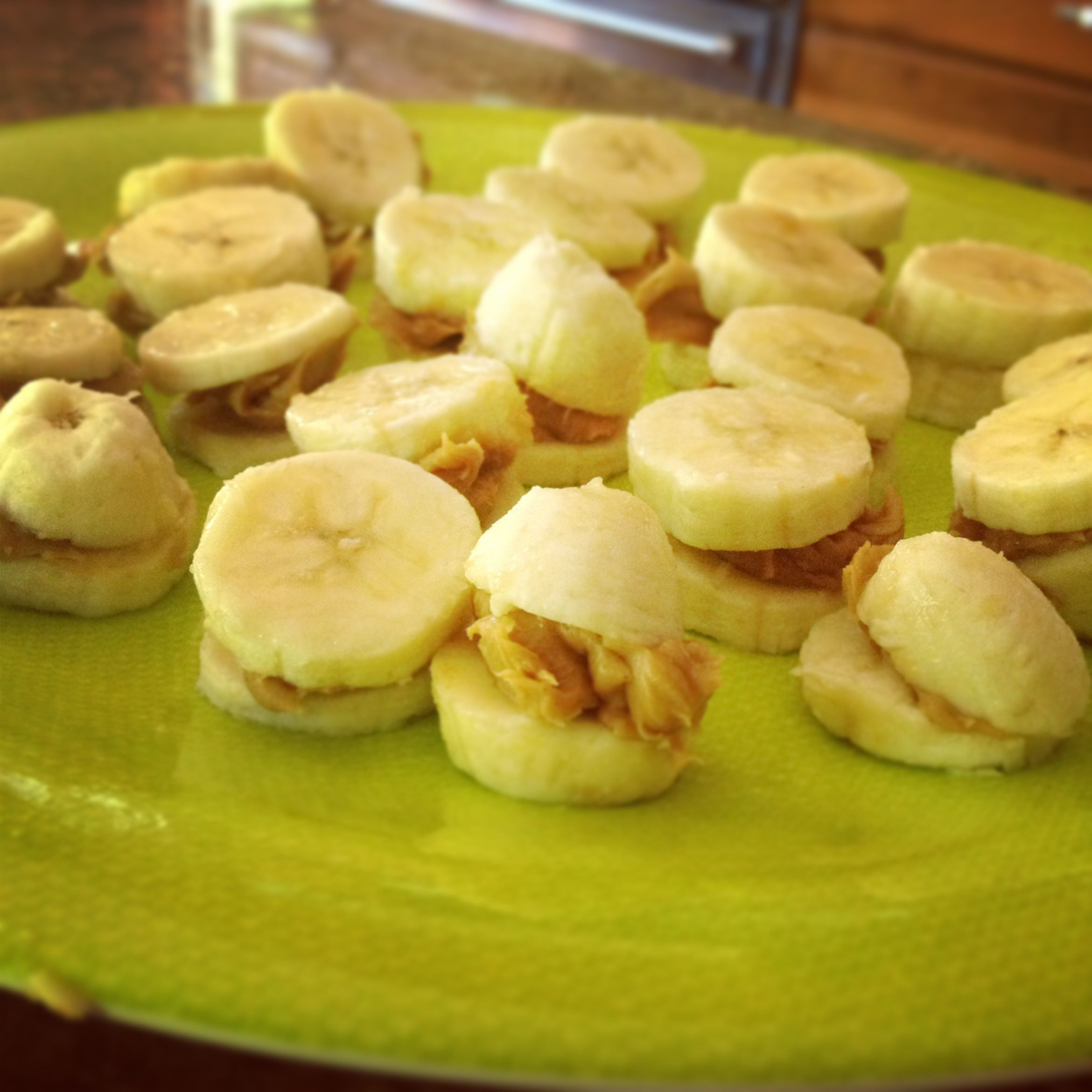 My best invention--peanut butter banana squish! Just add syrup!