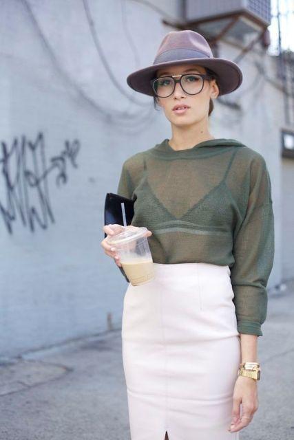 bb44d3729cf 40 Stylish Ways To Wear Sheer Shirts - EcstasyCoffee