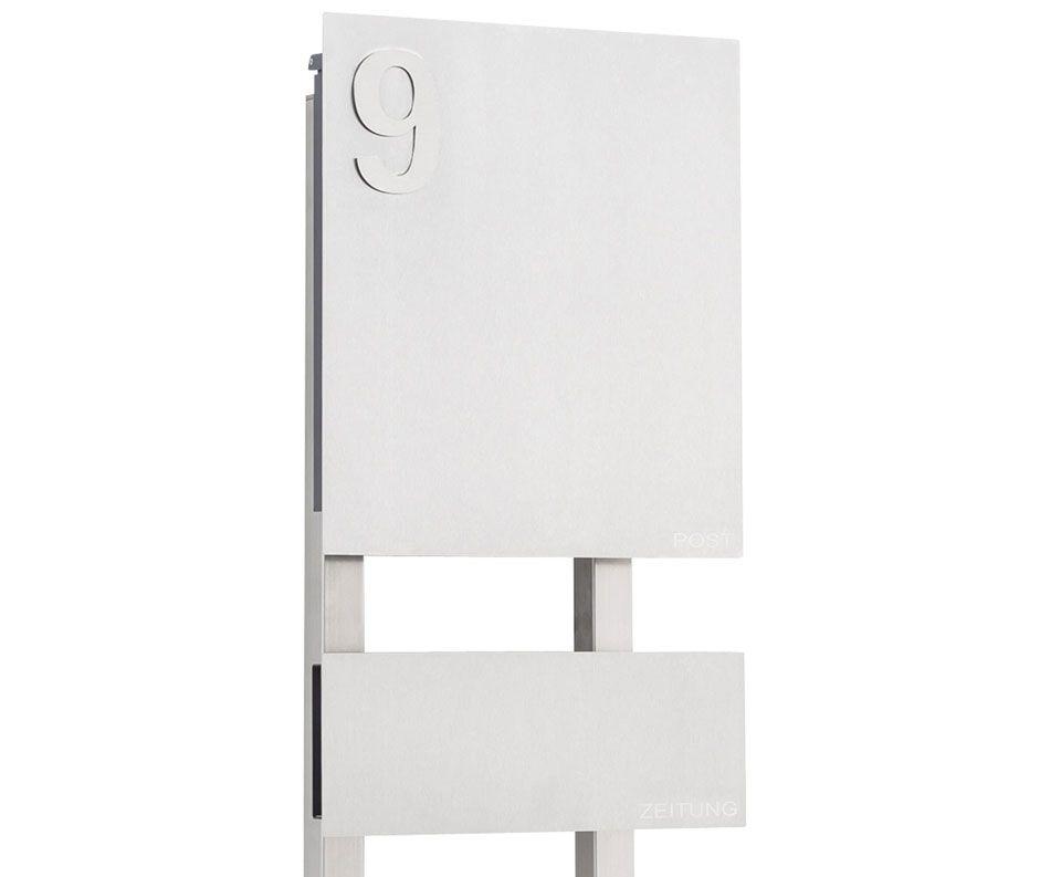 siljan ist ein hochwertig gefertigter freistehender edelstahl design briefkasten mit. Black Bedroom Furniture Sets. Home Design Ideas