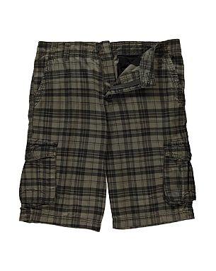 Check Cargo Shorts