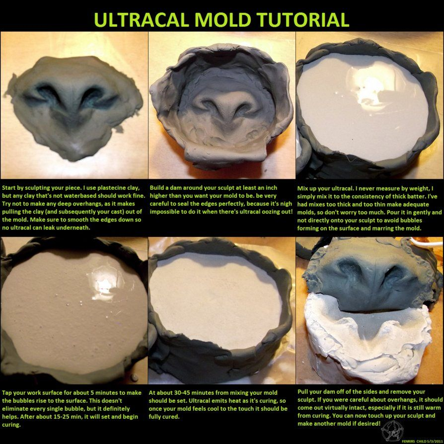 Ultracal mold tutorial by fenrirschild mask armor tutorial