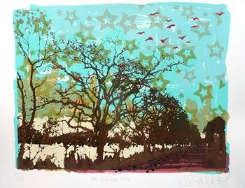The Singing Tree - limited edition screen print on paper, by Hilary Williams -$120