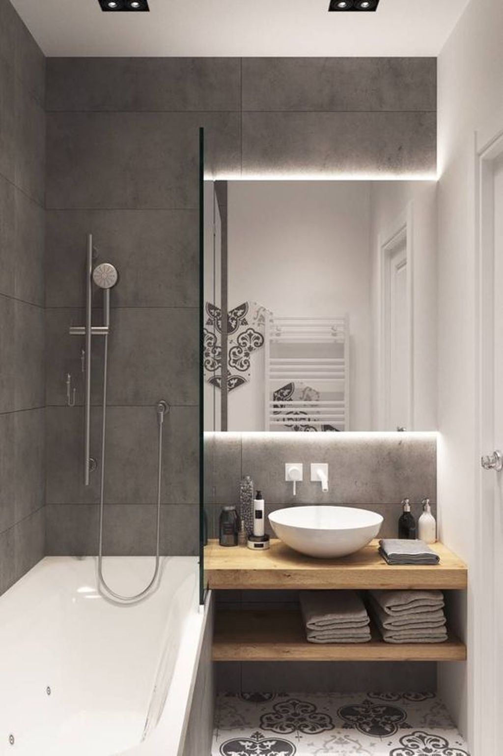 32 Amazing Small Bathroom Ideas To Maximize Space Small Bathroom Makeover Bathroom Interior Design Bathroom Interior