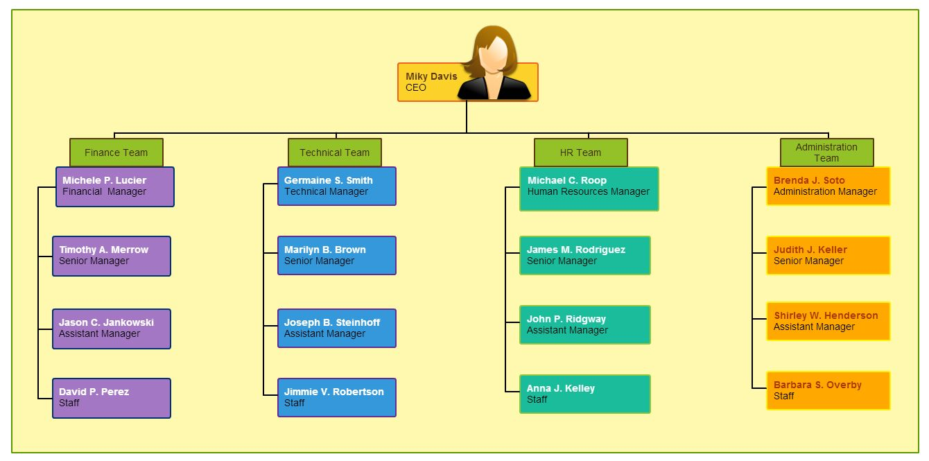 Pics photos company hierarchy template - Types Of Organizational Charts For Different Scenarios