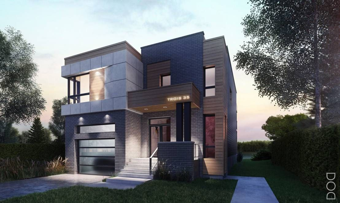 Casa en Montée Sagala, Cànada de DOD studio - Plan Maison Sweet Home 3d