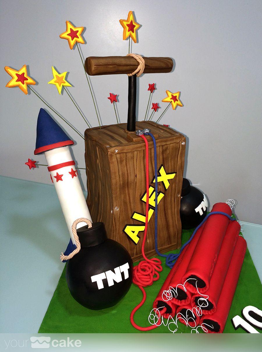 Your Cake Tarta fondant Explosivos ACME me gustas mucho