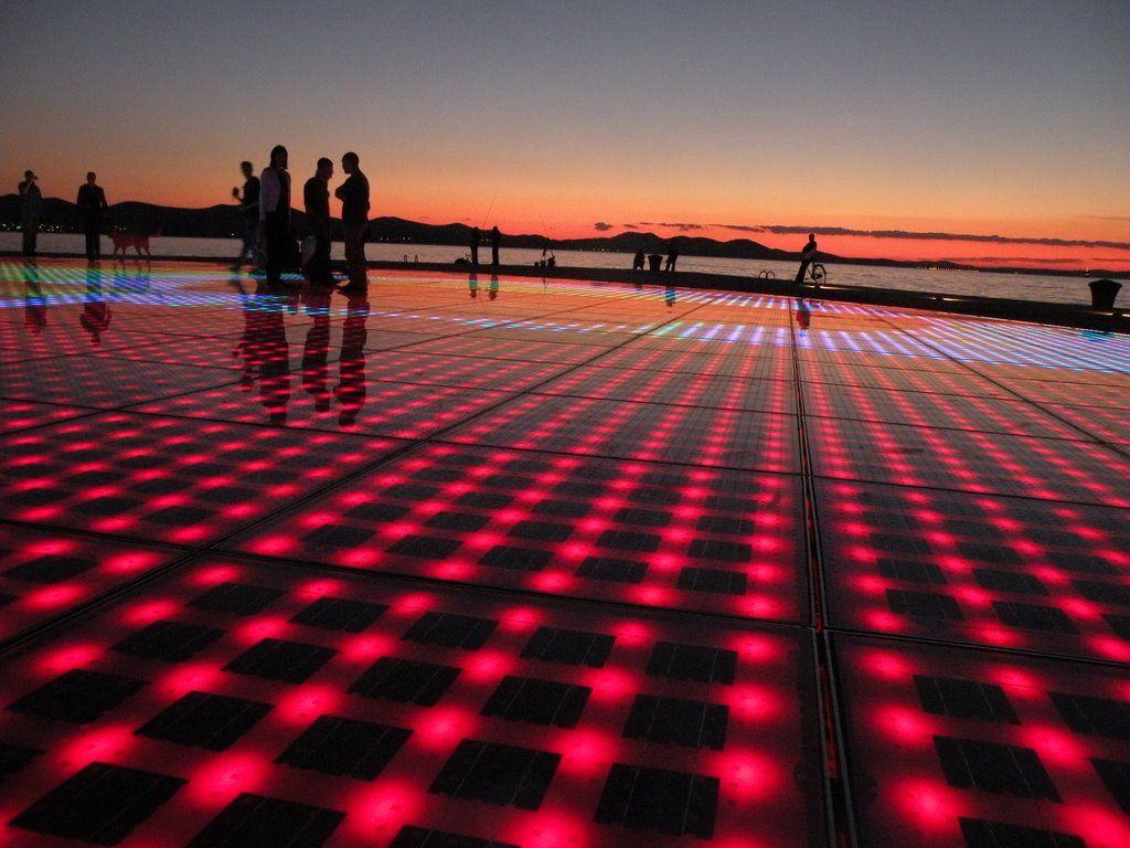 Greeting To The Sun Project By Niko Basic Zadar Light Design By Ranko Skansi Zagreb Croatia Zadar Zadar County