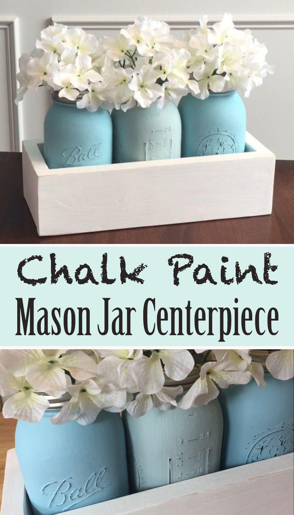 Chalk paint mason jar centerpiece window sill window and easy