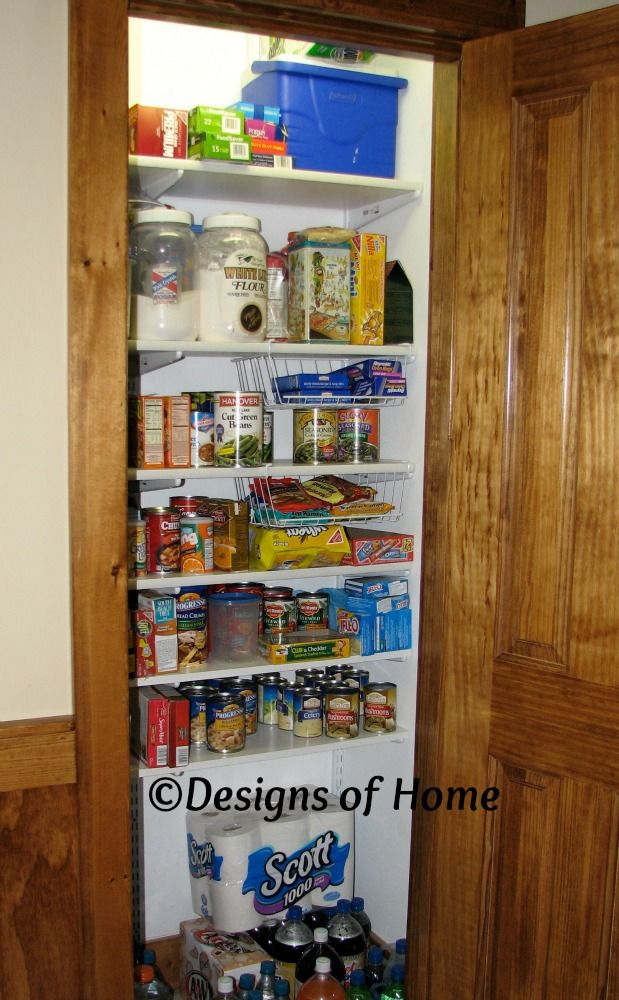 Turn your coat closet into pantry home sweet home Pinterest