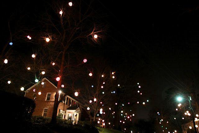 neighborhood of holiday ball lights in greensboro nc drive through