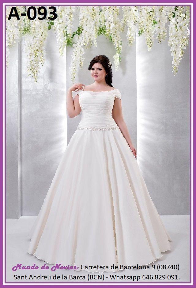 elegante vestido de novia princesa, de talla baja, ideal para tallas