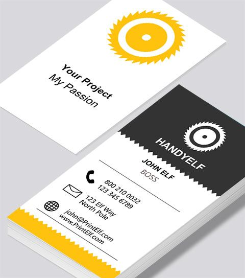 Modern contemporary business card design handyman business card handyman business card modern design reheart