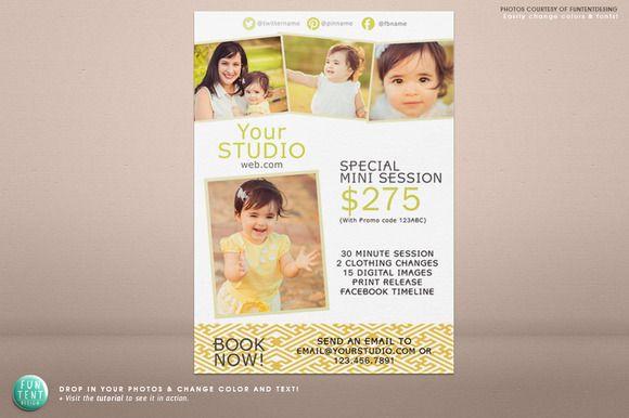 5x7 Mini Session Marketing Flyer Marketing Flyers Mini Sessions