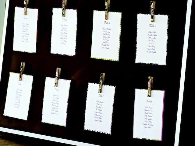 DIY Project: Magnetic Clothespin Seating Chart  Guest Seating Chart Template