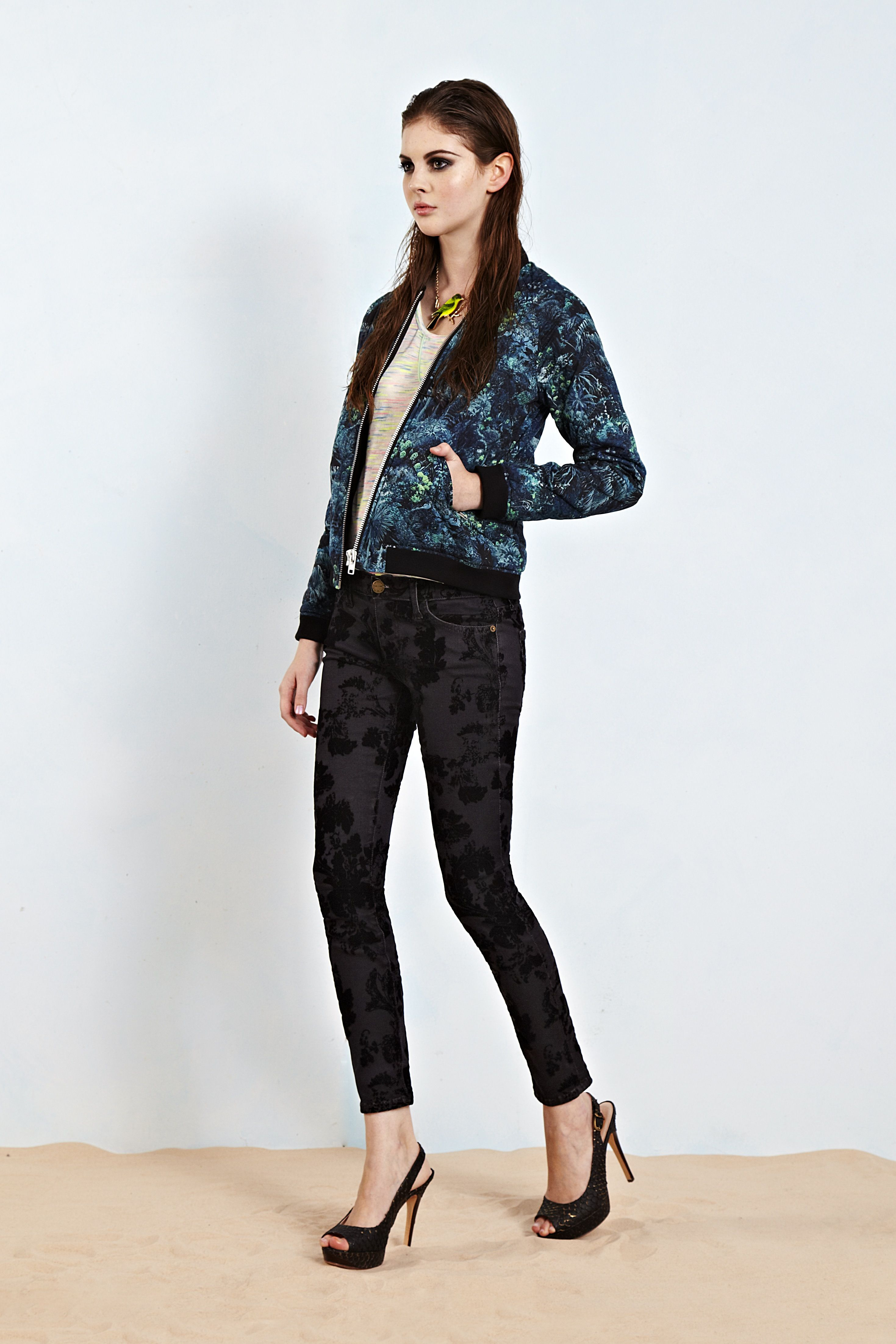 Digital prints from American Retro and their statement Bobby bomber jacket