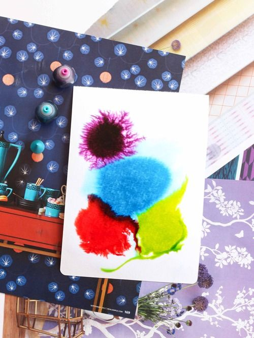Water Color Paper Really Wet Drop Food Color On Crafts Diy