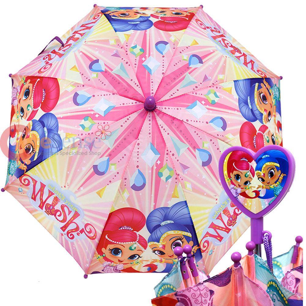 apariencia estética al por mayor online 100% de alta calidad Shimmer and Shine Kids Umbrella Nickelodeon Girls Pink ...