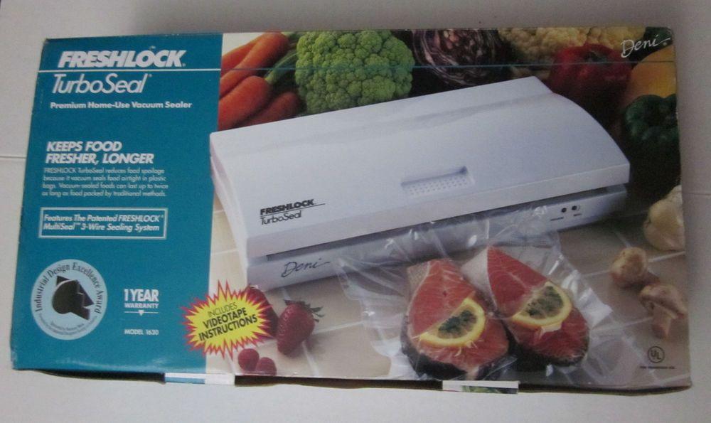 Deni 1630 Freshlock TurboSeal Vacuum Sealer Food Saver w/ 1 Roll of Seal #Deni