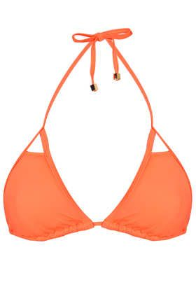 Flame Orange Cut Out Triangle Bikini Top - Swimwear - Clothing