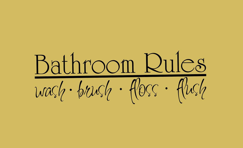 Bathroom Vinyl Wall Decal \'Bathroom Rules\'. $12.95, via Etsy ...