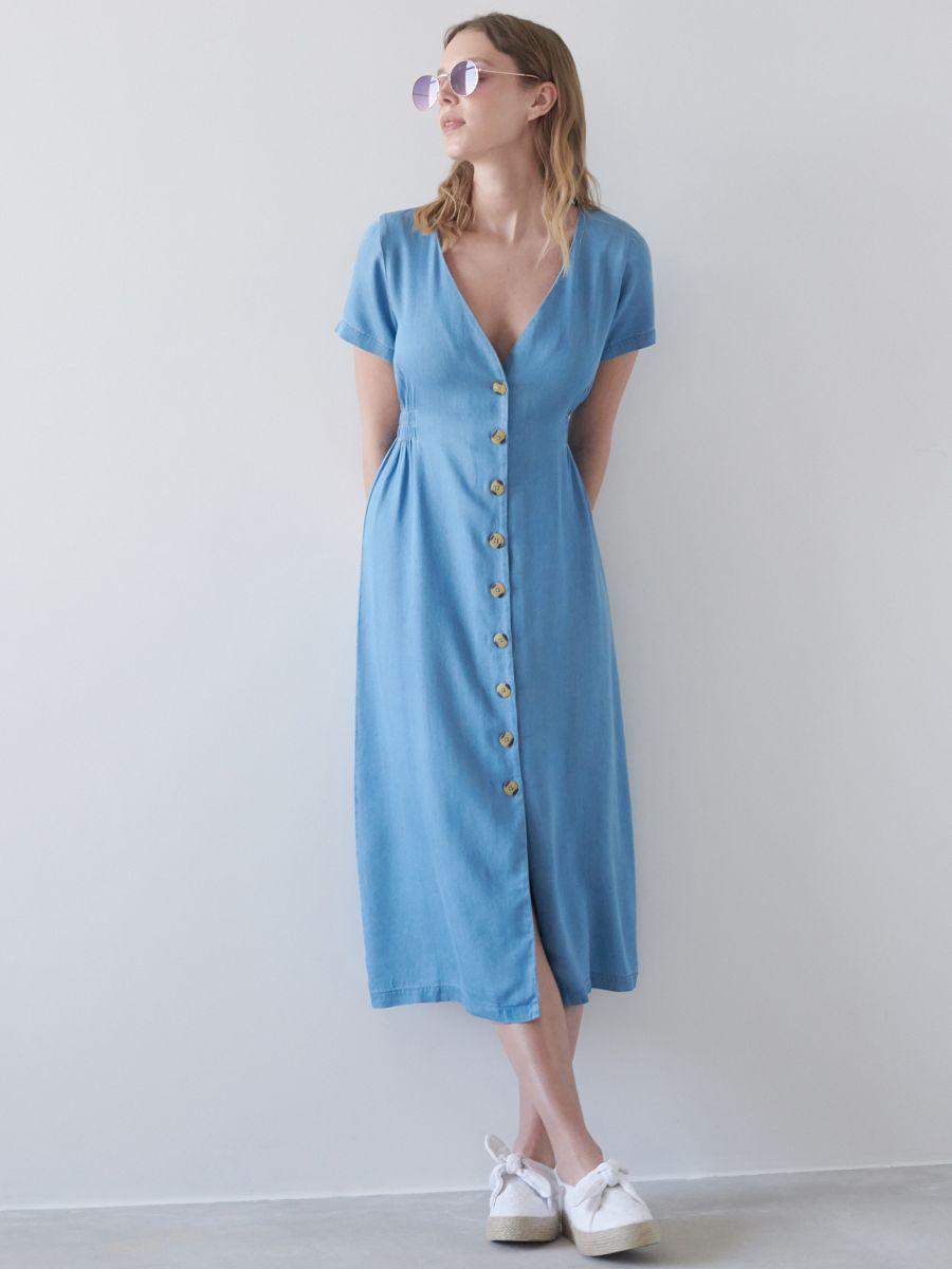 Jeansowa Sukienka Midi Sinsay Yj632 55j Casual Dress Dresses Womens Dresses