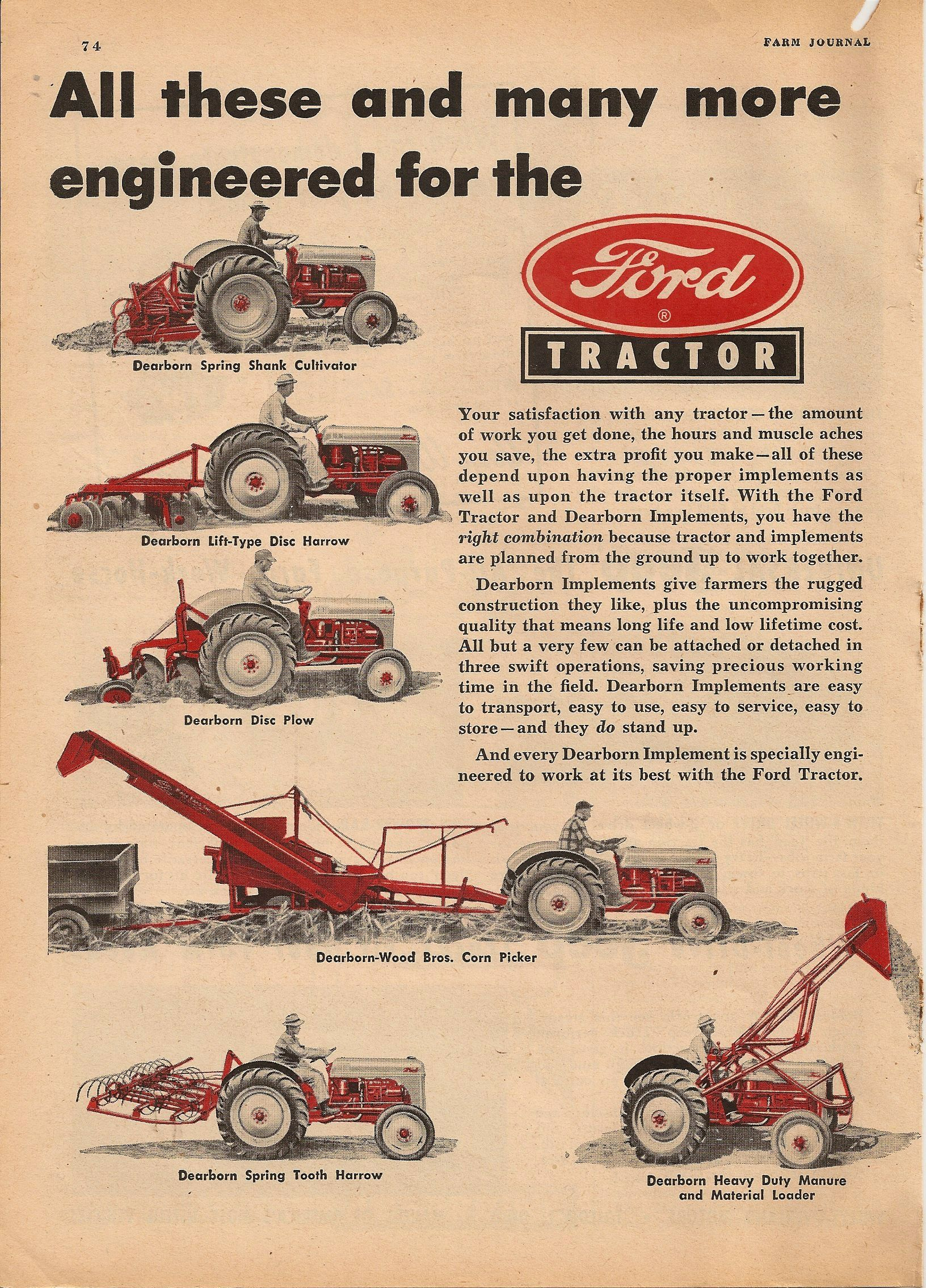 Ford Tractor | Old Ads | Tractors, Old tractors, 8n ford tractor