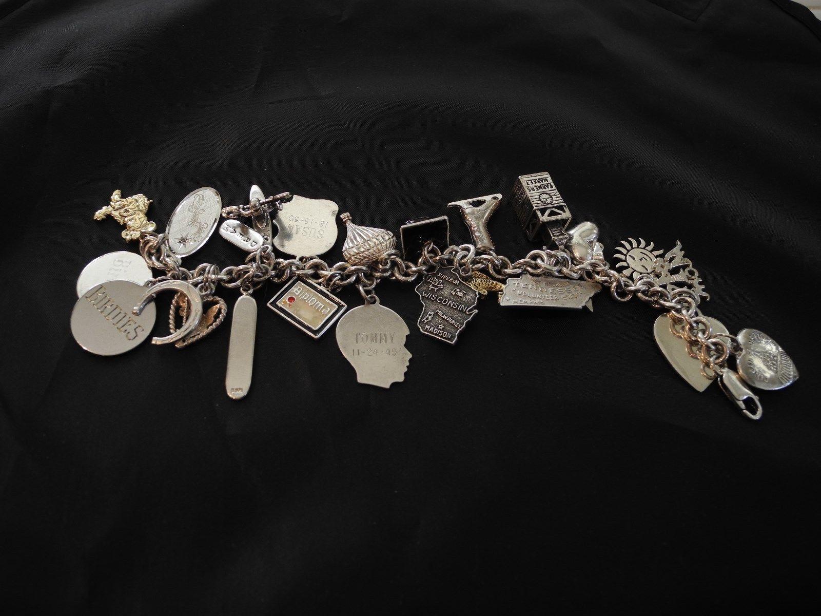 Vintage Sterling Silver Charm Bracelet gorhamhunt