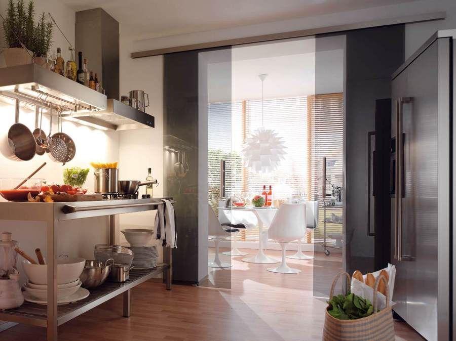 puertas abatibles correderas ahumado puerta corredera vidrio cocina ideas para google bsqueda interiores