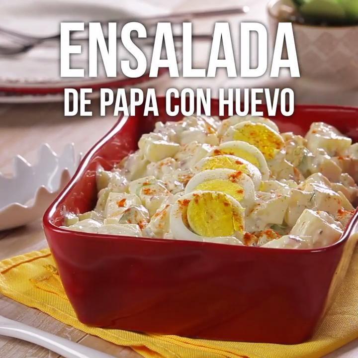 Ensalada de Papa con Huevo