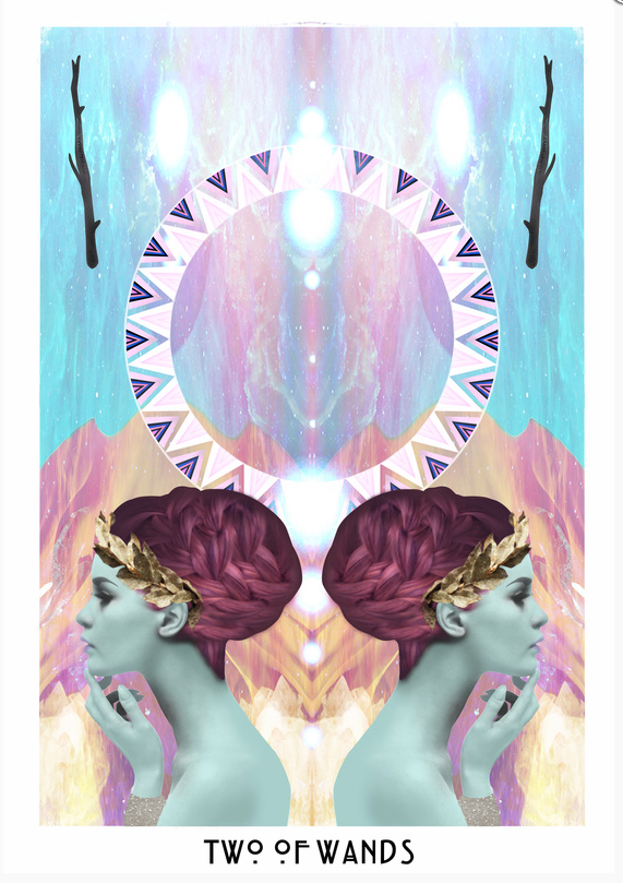 Two of Wands The Starchild Tarot © Danielle Noel | coven