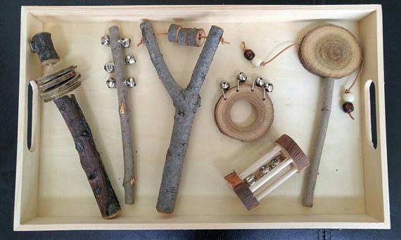 Nature Inspired Musical Instruments, Rustic Wooden Instruments, Gift for Kids, Montessori, Classroom Activity, Teacher Resources
