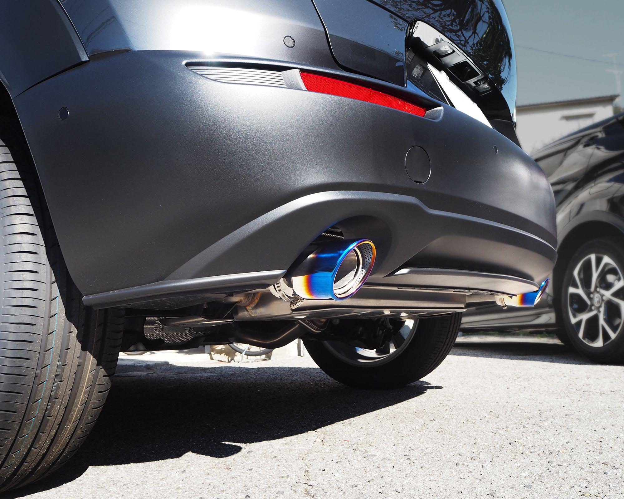 Cx 30 マフラーカッター チタン調 スラッシュカット マツダ Cx 30 Cx30 シングルタイプ 2本セット エクステリア マフラーカバー カー用品 マツダ ディーゼル カッター