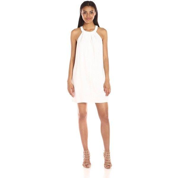 Short White Halter Neck Dress