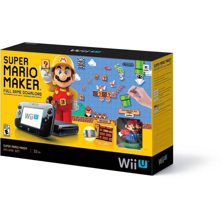 Pin for Later: 12 Hot Holiday Gifts to Start Saving For Now Wii U Super Mario Maker Console Deluxe Set