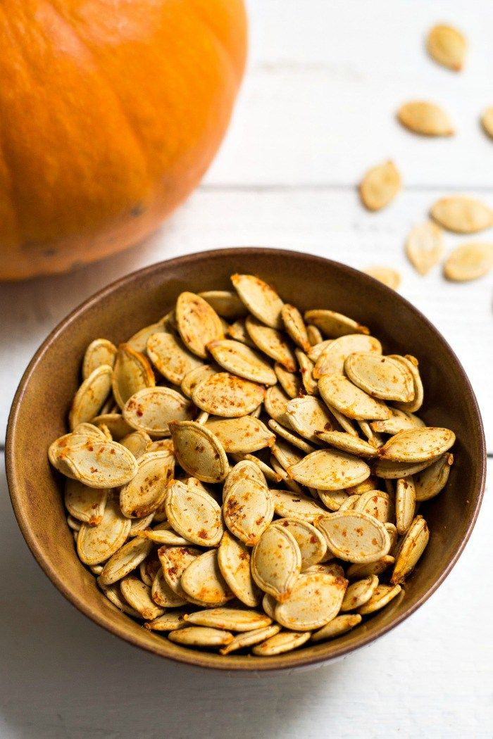 This Recipe For Savory Roasted Pumpkin Seeds Makes A Healthy