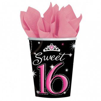Sweet 16 Paper Cups - Sweet 16 Themed Party Tableware Ideas  sc 1 st  Pinterest & Sweet 16 Paper Cups - Sweet 16 Themed Party Tableware Ideas | PARTY ...