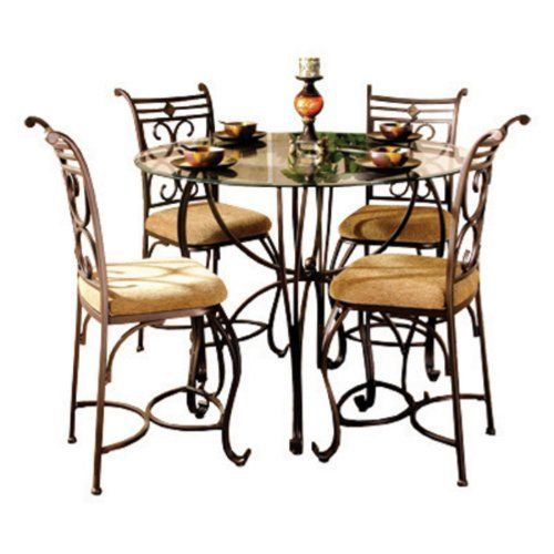 Excalibur Counter Height 5 Piece Dining Set By Home Source Industries 59999 The Pc Comes With Table And 4 Chairs