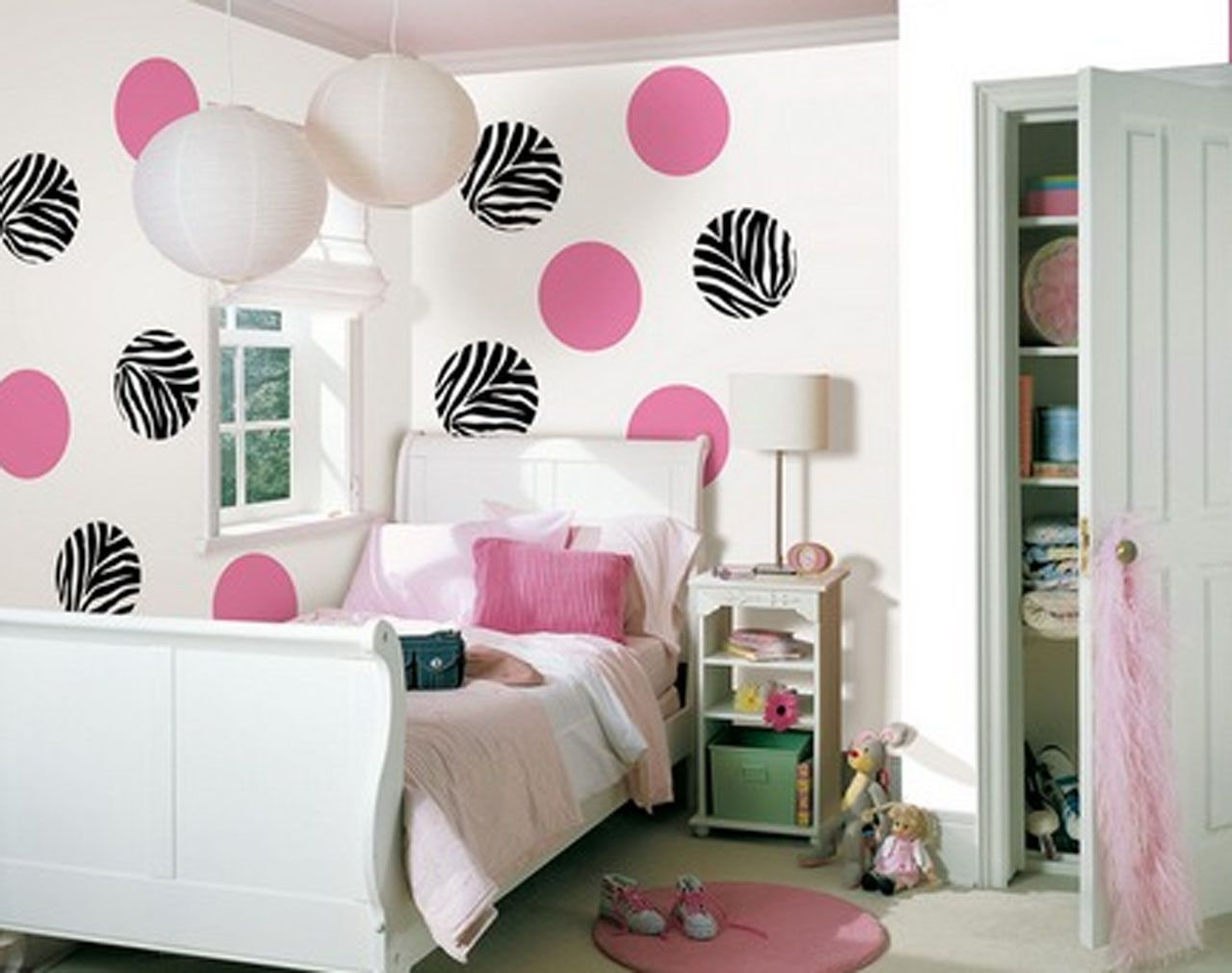 Create A Fun Zebra Print Look In A Girls Room With This Wall Pops Wall  Decals Kit. This Kit Contains Eight Go Wild Zebra Dots And Ten Flirt Pink  Dots That ...