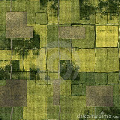 Green Agricultural Farm Land And Ocean Royalty Free Stock