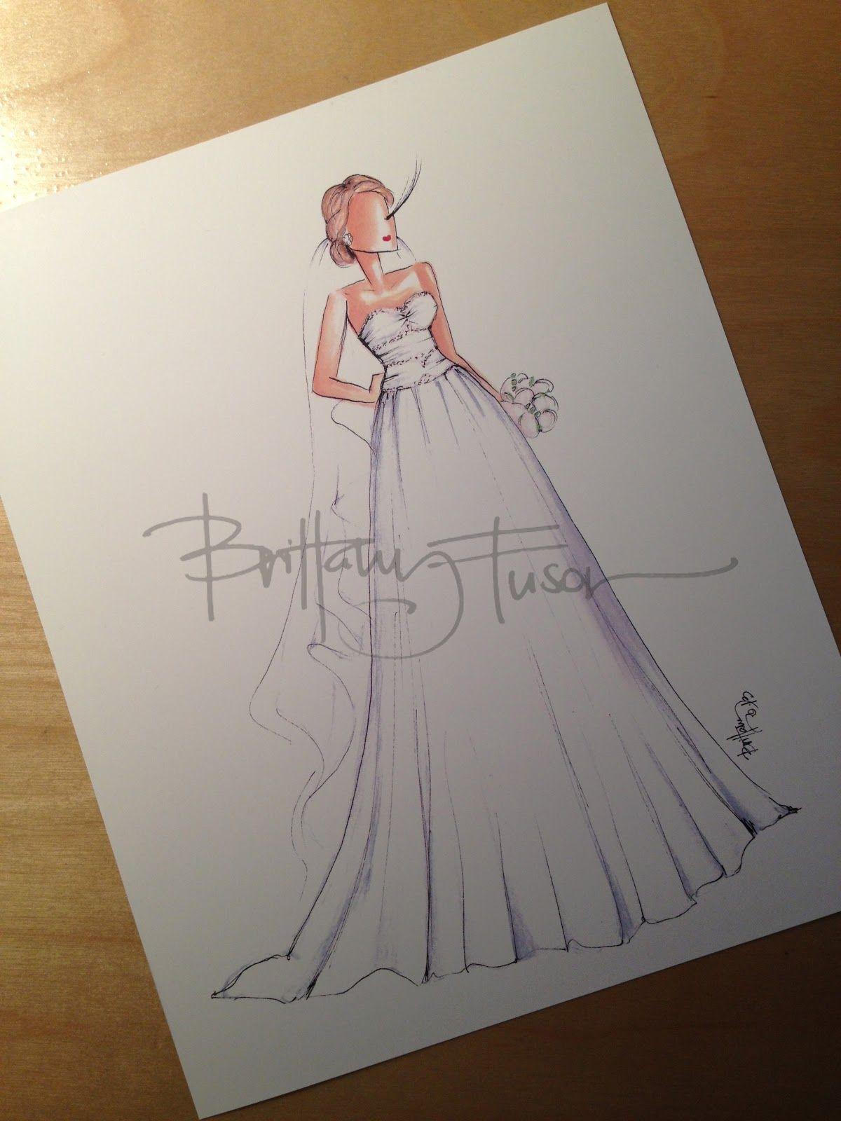 Custom bridal illustrations available [ www.brittanyfuson.com ]